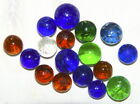 Marbles: Lot Of 17 ANTIQUE Handmade MICAS, MOST MINT, 17/32