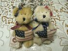 Boyds Plush Bears Tess & Bess Americana Heirloom Series Patriotic Flag Pillow