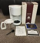 NEW In Box KRUPS Gevalia Kaffe 10 Cup Coffee Maker White Model 396