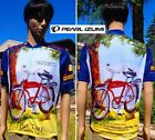vintage FAT TIRE AMBER ALE cycling jersey pearl IZUMI colorado beer brewery LG