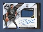 KARL-ANTHONY TOWNS 2015-16 LIMITED AUTOGRAPH PATCH AUTO RC # 25 25 TWOLVES
