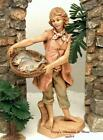 FONTANINI DEPOSE ITALY 75JESSE w BASKET OF FISH NATIVITY VILLAGE FIGURE 52888