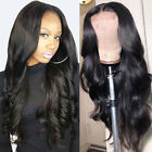 Deluxe Body Wave Lace Front Wigs 100% Remy Indian Human Hair Wig Pre Plucked g4b