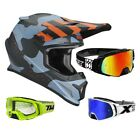 Thor Sector Mosser Crosshelm Motocross Helm camo blau TWO X Rocket Crossbrille