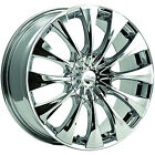 16x75 Chrome Pacer Silhouette Wheels 5x110 5x115 +38 BUICK PASSAGE RIVIERA