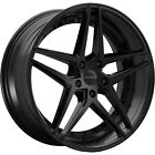 20x85 Black Rosso Reactiv Wheels 5x115 +15 Fits Dodge Charger Magnum RWD