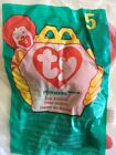 Ty Teenie Beanie Babies #5 PNICHERS THE LOBSTER- In the Bag - Ronald McDonald's