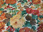 1 2 Yd Fall Harvest Quilt Fabric Scenes from Autumn Floral Flowers Mums Leaves