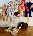 Vintage TY Beanie Baby Lot 7 Princess Diana TY2K Curly Strut Stretch Roam Derby