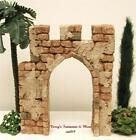 FONTANINI ITALY 5 STONE CITY ENTRANCE GATE NATIVITY VILLAGE ACCESS NIB 55563