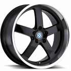 17x8 Black Beyern Rapp Wheels 5x120 +15 BMW 5 SERIES 525 528 530 540