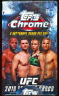 (2) 2018 TOPPS CHROME UFC SEALED HOBBY BOX LOT auto sp refractor