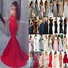 Women Formal Bridesmaid Wedding Long Dress Evening Prom Ball Gown Party Dresses