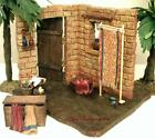FONTANINI ITALY 5 RETIRED 2PC SEWING CORNER NATIVITY VILLAGE BLDG 65012 GCIB