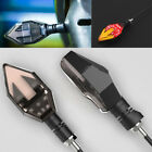 2x Universal 12V ATV Scooter Turn Signal Arrow Light Indicator w/ Red Brake LED