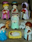 Blow Mold Christmas Nativity Empire Complete Lighted Scene 10 Piece