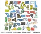 COLLECTION 51 US STATE MAP OUTLINE MAGNETS MADE IN USA NEW