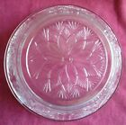Vintage Pressed Glass Poinsettia Patterned Serving Plate and Matching Bowl