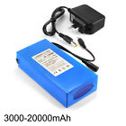 12V 3000 20000mAh Lithium Rechargeable Li ion Battery Pack+ US PLUG Charger