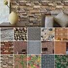 3D Wall Paper Brick Stone Self adhesive Wall Sticker Home Decor 45  100cm USA