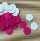 60 pc x 25mm Thin Felt Circle Appliques for Flowers Bows Crafts Scrapbook ST601A