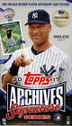 2017 TOPPS ARCHIVES SIGNATURES SERIES POSTSEASON EDITION BASEBALL HOBBY BOX NEW