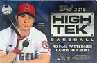 2018 TOPPS HIGH TEK BASEBALL HOBBY BOX FACTORY SEALED NEW