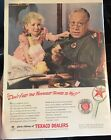 "Texaco WW II Patriotic Ad  ""Until The War Is Won!"" Pristine! 10""x13"" Sealed!"
