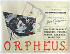 Jean Cocteau ORPHEUS ORPHEE Original British quad poster for the 1950 137656