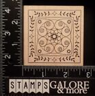 OUTLINES RUBBER STAMPS MOSIAC DESIGN FLOWERS LEAVES STARS BORDER 1837