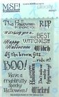 NEW My Sentiments Exactly Clear Stamps Y221 Halloween Cards