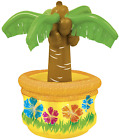 Inflatable Palm Tree Cooler Tropical Theme Beach Pool Hawaiian Party New