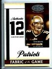 2008 Certified Fabric Of The Game Tom Brady Authentic Game Worn Dual Jersey10 12