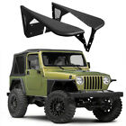 Pair Black Steel Flat Fender Flares Eyebrow for Jeep Wrangler TJ 1997 2006