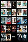 JAMES BOND Poster - Bond Movie Posters collage - 007 Bond movies poster PP33726