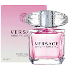 Versace Bright Crystal 3.0 oz 3 oz EDT Spray Perfume For Women Brand New In Box