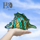 Hand Blown Glass Murano Art Style Seashell Conch Sculpture Home Office Decor