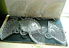 GROUP OF 7 ANCHOR HOCKING DAISY BUTTON PATTERN FAN LUNCHEON PLATES