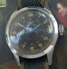 DD1: RARE VINTAGE TISSOT WWII MILITARY STEEL RADIUM 24 HR DIAL MANUAL MENS WATCH