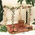 FONTANINI ITALY 5 WEDDING CANOPY w TABLE 2pc NATIVITY VILLAGE SET 50605 GCIB