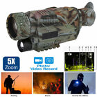 Digital 5x40 IR Night Vision Monocular 200m Zoom Hunting Camera Video Recorder