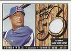 2003 Bowman Heritage Diamond Cuts Relics VW Vernon Wells Jersey