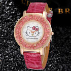 HELLO KITTY PINK ICE GOLD TONE ICED OUT WOMANS WATCH 3-5 DAY FREE SHIPPING