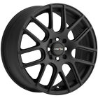 4 Vision 426 Cross 14x55 4x100 4x45 +38mm Matte Black Wheels Rims 14 Inch