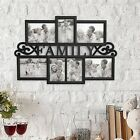 Collage Picture Frame Holds 7 Images Wall Hanging Multiple Family Photos