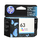 HP 63 Color Ink Cartridge 63 F6U61AN NEW GENUINE