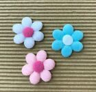 60 pcs x 125 Padded Furry Felt Spring Flower Appliques for Baby Shower ST132A
