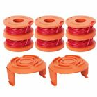 6x Line Spool Strimmer Head Base Cover Cap + Spool And Line For Worx GT Trimmer