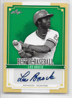 Lou Brock 2012 Leaf Best of Baseball Certified Authentic Autograph #BA-LB1