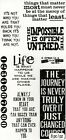 Tim Holtz Clear Stamps Phrases 2 Life Journey Motivational Quotes